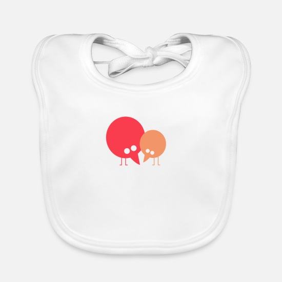 Love Baby Clothes - Two cute birds ♥ - Baby Bib white