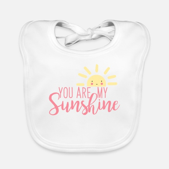 Sun Baby Clothes - Valentine's Day - Baby Bib white