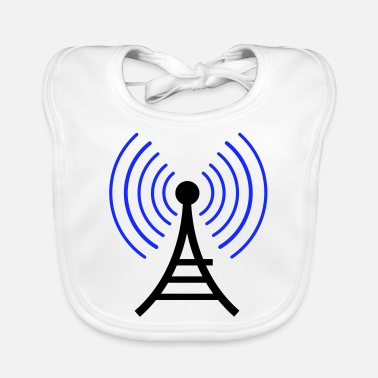 Radio Tower radio wireless tower - Baby Bib