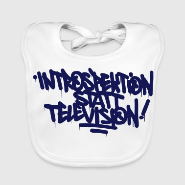 Introspection instead Television - Baby Organic Bib