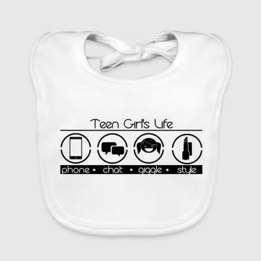 The everyday life of a teenager girl - Baby Organic Bib