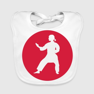 Red Karate - Baby Organic Bib