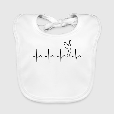 Bass Player Heartbeat - Baby Organic Bib