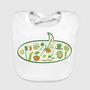 Saint Patrick's Day Speech Balloon - Baby Organic Bib