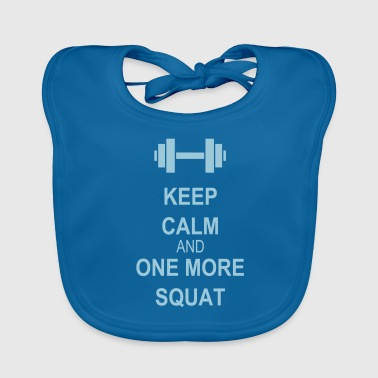 Keep calm and squat - Vauvan ruokalappu