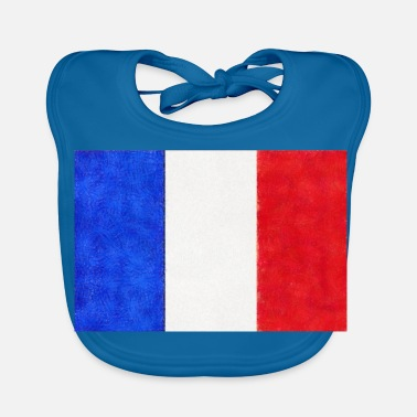 French Flag French flag tricolor France - Baby Organic Bib