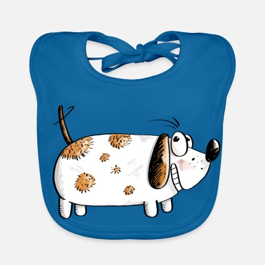 Fat Funny Dog - Dogs Comic - Baby Bib