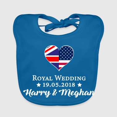 Harry & Meghan | Royal Wedding UK England - Baby Organic Bib