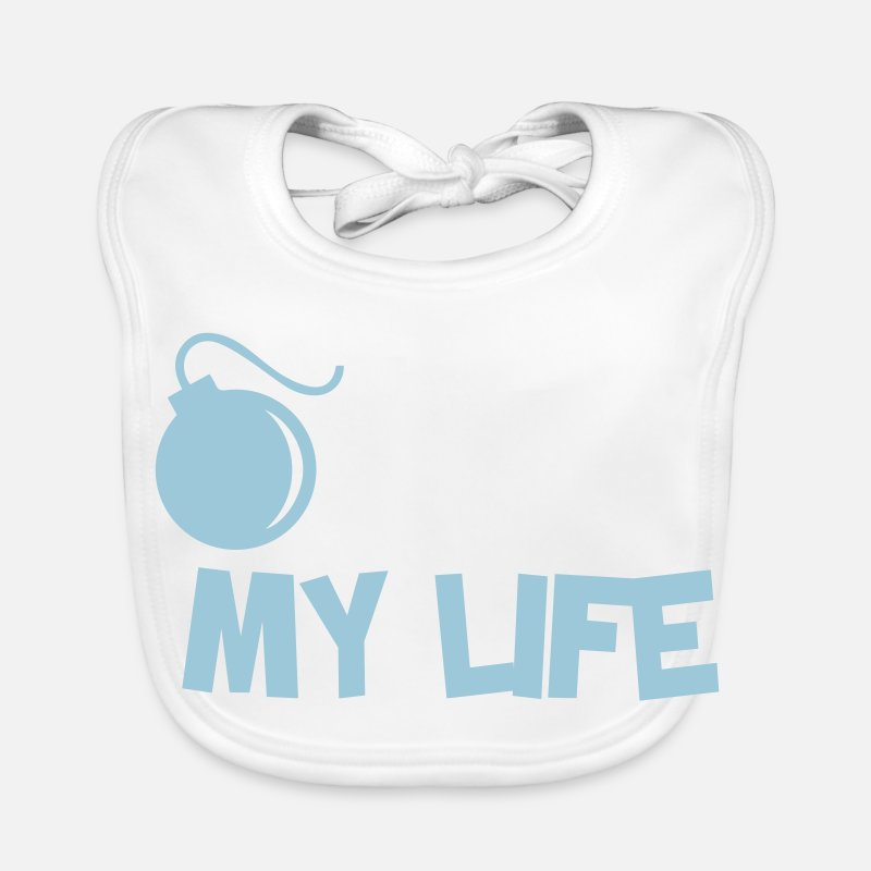 Quotes Baby Clothes - Funny Quotes. Quote. Humor. gift - Baby Bib white