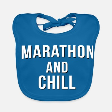 Marathon and Chill - Baby Bib