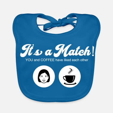 Tinder Coffee Match Tinder Love Dating - Baby Organic Bib