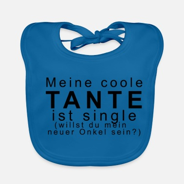 Single Kinder Motiv Meine coole Tante - Baby Bio-Lätzchen
