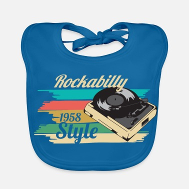 Turntable rockabilly - Vauvan ruokalappu