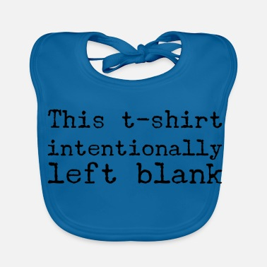 Blank intentionally blank - Baby Organic Bib