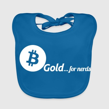 Bitcoin, gold for nerds. White version. - Baby Organic Bib