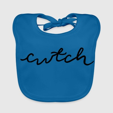 cwtch, cuddle in Welsh - Baby Organic Bib