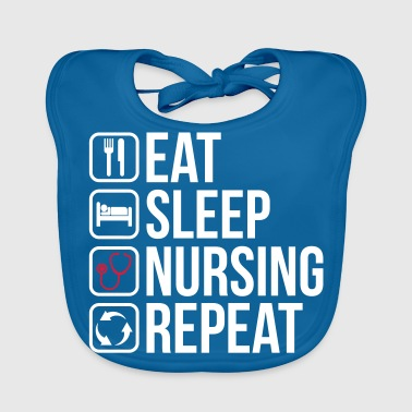 Ambulancechauffeur Eet Sleep Nursing Repeat - Bio-slabbetje voor baby's