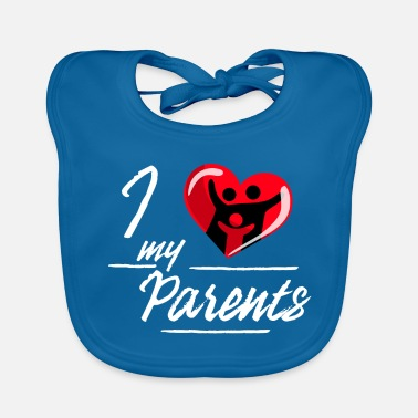 Parents J'aime mes parents / parents - Bavoir bio Bébé