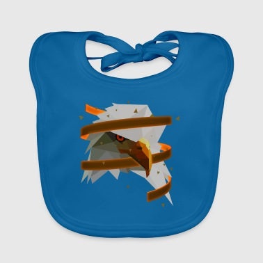 3D Art Polygonal Animal - Eagle Organic Products - Baby Organic Bib