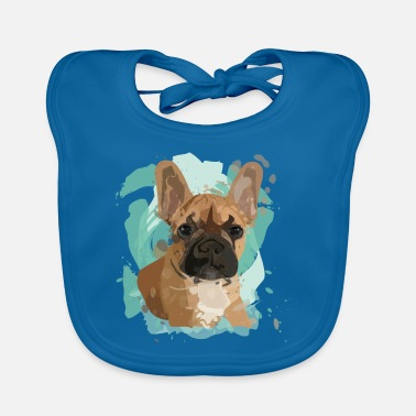 French Bulldog Frenchie Dog Gift - Ekologisk babyhaklapp