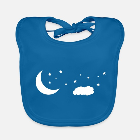 Starry Sky Baby Clothes - night sky - Baby Bib peacock-blue