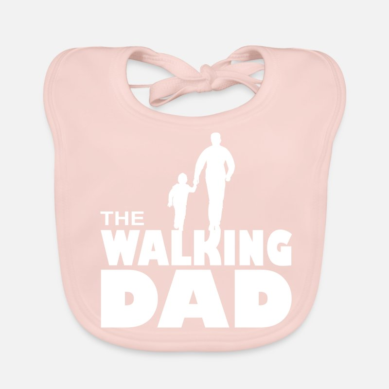 Father Dad With Son Kid Walk For Gift Idea Baby Bib