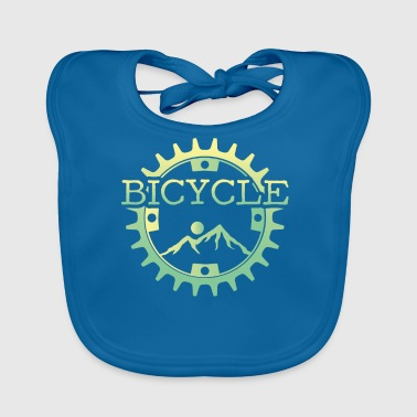 Mountain bike mountain biking mountains sun gift - Baby Organic Bib