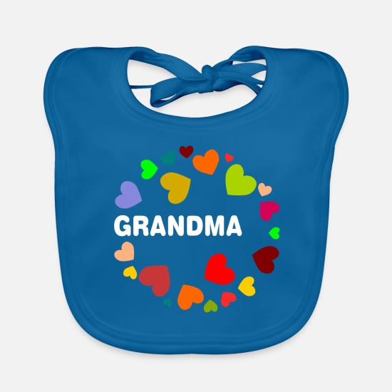 Adult Baby Clothes - Grandma - Baby Bib peacock-blue