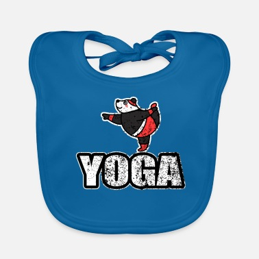 New Age Dans Yoga Bear Retro New Age - Ekologisk babyhaklapp