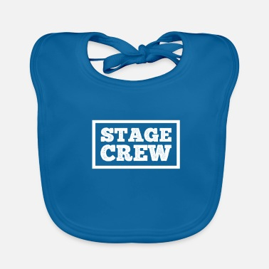 Theatre Stage Crew gift for Theatre Lovers - Baby Organic Bib