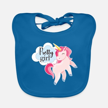 Pretty Pretty Girl - Unicorn - Pretty Unicorn - Ekologisk babyhaklapp