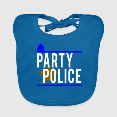 Party Police Funny Novelty Security - Baby Organic Bib