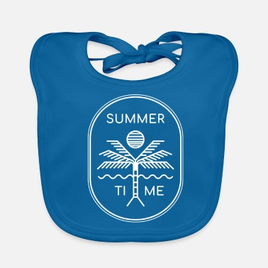 Summer Finally summer - summer time - present - Baby Bib