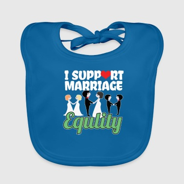I Support Marriage - Baby Organic Bib