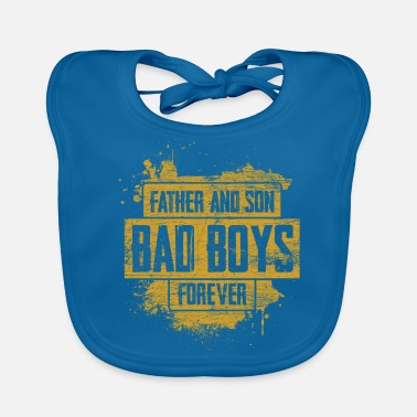 Father And Son father and son - Baby Organic Bib