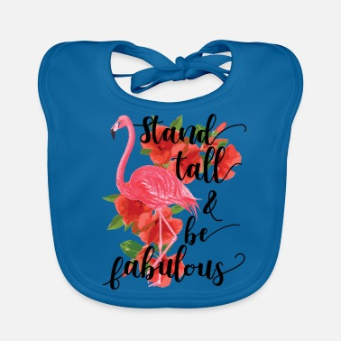 Officialbrands Flamingo - Stand Tall And Be Faboulous - T-Shirt - Ekologiczny śliniaczek