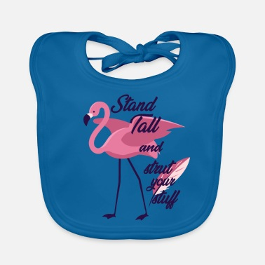 Officialbrands Flamingo Stand Tall and Strut Your Stuff T-shirt - Bio-slabbetje voor baby's