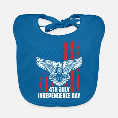 Officialbrands Independence Day 4 luglio - Eagle Flag T-Shirt - Bavaglino