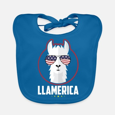 Officialbrands Independence Day 4 luglio - LLAMERICA - T-Shirt - Bavaglino