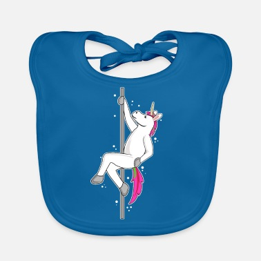 Pole Dance Funny Unicorn Haloween Pole Dancing - Baby Organic Bib