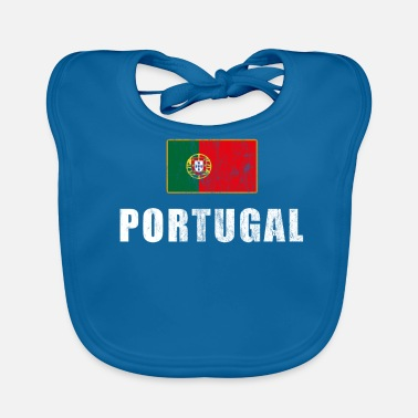 Portugees Portugese fans voetbalshirt Portugese fans - Bio-slabbetje voor baby's