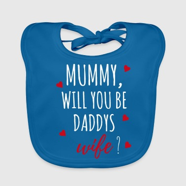 Marriage proposal request mummy gift idea - Baby Organic Bib