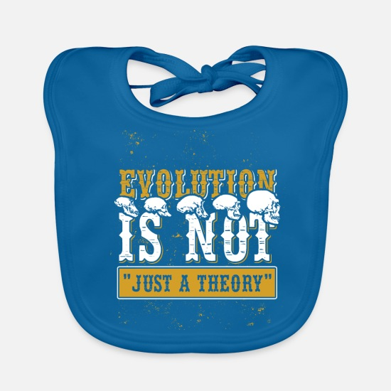 Evolution Baby Clothes - evolution - Baby Bib peacock-blue