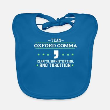 Oxford Team Oxford Comma - English Literature Teacher - Baby Organic Bib