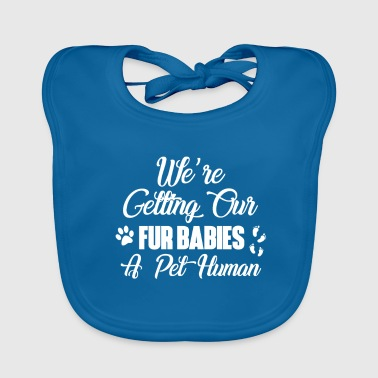 Pregnancy announcement pregnancy reveal cat dog - Baby Organic Bib
