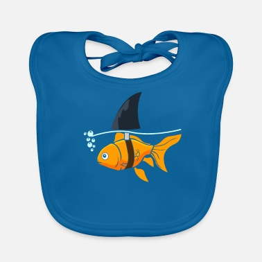 Shark Fin Goldfish shark - goldfish with shark fin - Baby Organic Bib