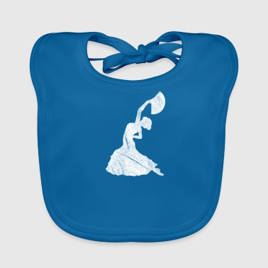 Flamenco dancer / flamenco dance in white - Baby Organic Bib