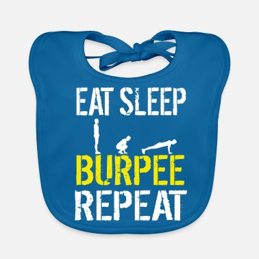 Bootcamp Grappige Burpees Training Hindernisbaan Race Bootcamp - Bio-slabbetje voor baby's