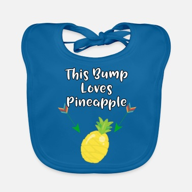 Pregnancy Announcement This Baby Bump Loves Pineapple Funny Pregnancy - Baby Organic Bib