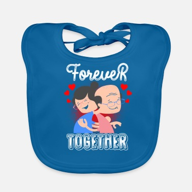Bride And Groom forever together gift - Baby Organic Bib